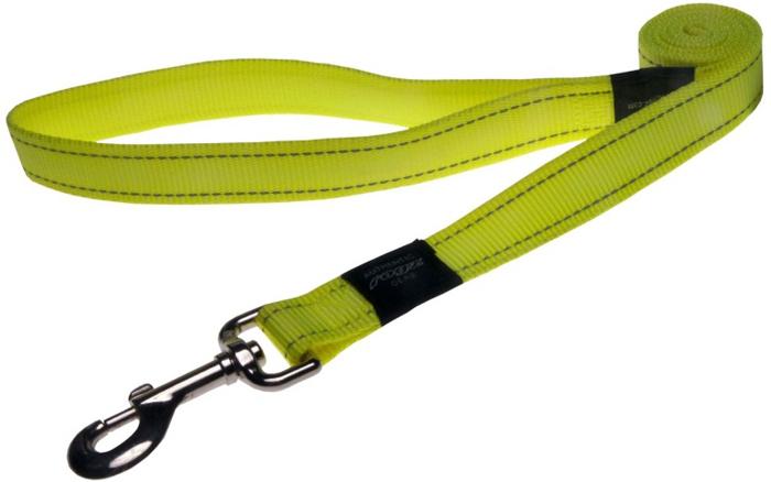 Поводок для собак Rogz Utility , удлиненный, цвет: желтый, ширина 2,5 см. Размер XLHLL05HВидимость ночью. Светоотражающая нить, вплетенная в нейлоновую ленту - для обеспечения лучшей видимости собаки в темное время суток. Специальная конструкция пряжки Rog Loc - очень крепкая (система Fort Knox). Замок может быть расстегнут только рукой человека. Технология распределения нагрузки позволяет снизить нагрузку на пряжки, изготовленные из титанового пластика, с помощью правильного и разумного расположения грузовых колец, благодаря чему, даже при самых сильных рывках, изделие не рвется и не деформируется.Выполненные специально по заказу ROGZ литые кольца гальванически хромированы, что позволяет избежать коррозии и потускнения изделия.