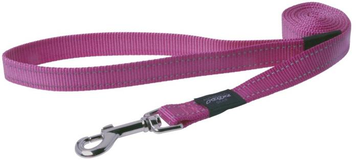 Поводок для собак Rogz Utility , удлиненный, цвет: розовый, ширина 2,5 см. Размер XLHLL05KВидимость ночью. Светоотражающая нить, вплетенная в нейлоновую ленту - для обеспечения лучшей видимости собаки в темное время суток. Специальная конструкция пряжки Rog Loc - очень крепкая (система Fort Knox). Замок может быть расстегнут только рукой человека. Технология распределения нагрузки позволяет снизить нагрузку на пряжки, изготовленные из титанового пластика, с помощью правильного и разумного расположения грузовых колец, благодаря чему, даже при самых сильных рывках, изделие не рвется и не деформируется.Выполненные специально по заказу ROGZ литые кольца гальванически хромированы, что позволяет избежать коррозии и потускнения изделия.