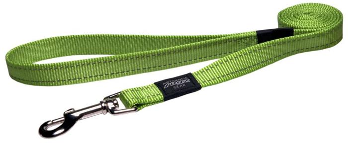 Поводок для собак Rogz Utility , удлиненный, цвет: зеленый, ширина 2,5 см. Размер XLHLL05LВидимость ночью. Светоотражающая нить, вплетенная в нейлоновую ленту - для обеспечения лучшей видимости собаки в темное время суток. Специальная конструкция пряжки Rog Loc - очень крепкая (система Fort Knox). Замок может быть расстегнут только рукой человека. Технология распределения нагрузки позволяет снизить нагрузку на пряжки, изготовленные из титанового пластика, с помощью правильного и разумного расположения грузовых колец, благодаря чему, даже при самых сильных рывках, изделие не рвется и не деформируется.Выполненные специально по заказу ROGZ литые кольца гальванически хромированы, что позволяет избежать коррозии и потускнения изделия.