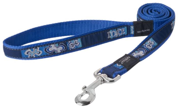Поводок для собак Rogz Fancy Dress, удлиненный, цвет: синий, ширина 1,6 см. Размер L. HLL12BP rogz адресник на ошейник для собак rogz fancy dress синий l 34 мм
