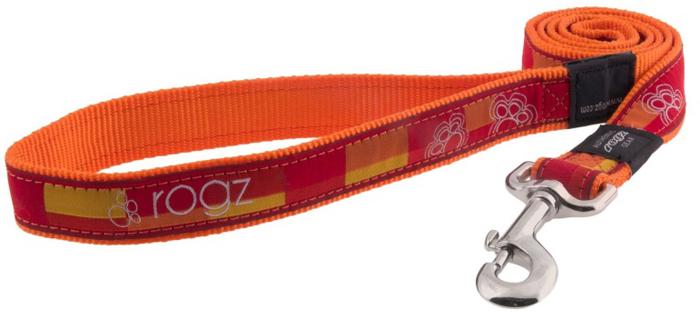 Поводок для собак Rogz  Fancy Dress , удлиненный, цвет: оранжевый, ширина 1,6 см. Размер L - Товары для прогулки и дрессировки (амуниция)