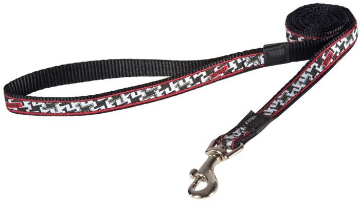Поводок для собак Rogz Fancy Dress, удлиненный, цвет: черный, белый, ширина 1,6 см. Размер LHLL12BVНеобычный дизайн. Широкая гамма потрясающе красивых орнаментов на прочной тесьме поверх нейлоновой ленты украсит вашего питомца.Необыкновенно крепкий и прочный поводок.Выполненные по заказу литые кольца выдерживают значительные физические нагрузки и имеют хромирование, нанесенное гальваническим способом, что позволяет избежать коррозии и потускнения изделия.
