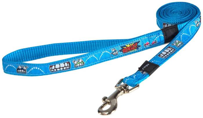 Поводок для собак Rogz Fancy Dress, удлиненный, цвет: голубой, ширина 1,6 см. Размер L rogz адресник на ошейник для собак rogz fancy dress синий l 34 мм