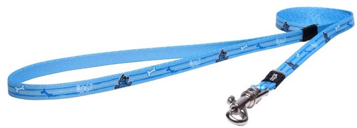 Поводок для собак Rogz Yo Yo, цвет: голубой, ширина 8 мм. Размер XS поводок перестежка для собак rogz yo yo цвет розовый ширина 1 6 см размер m