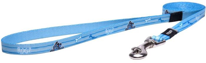 Поводок для собак Rogz Yo Yo, цвет: голубой, ширина 1,2 см. Размер S поводок перестежка для собак rogz yo yo цвет розовый ширина 1 6 см размер m