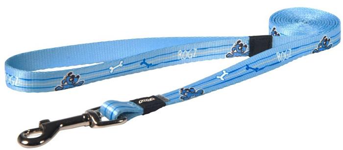 Поводок для собак Rogz Yo Yo, цвет: голубой, ширина 1,2 см. Размер M поводок перестежка для собак rogz yo yo цвет розовый ширина 1 6 см размер m