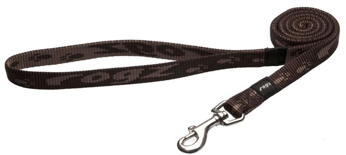 Поводок для собак Rogz Alpinist, удлиненный, цвет: коричневый, ширина 1,6 см. Размер M. HLL23J нaконечники литые нa свaи