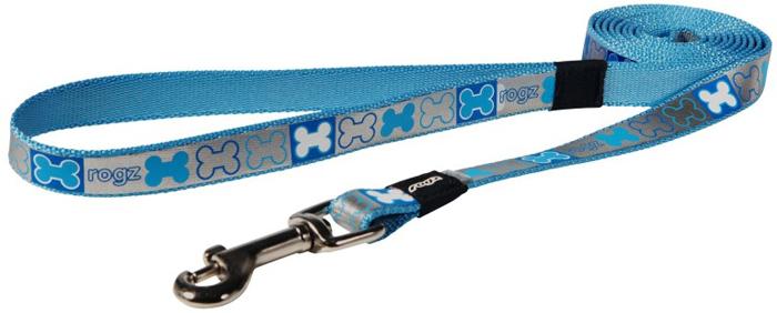 Поводок для собак Rogz  Reflecto , цвет: голубой, ширина 1,6 см. Размер M - Товары для прогулки и дрессировки (амуниция)