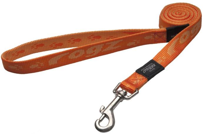 Поводок для собак Rogz Alpinist, удлиненный, цвет: оранжевый, ширина 2 см. Размер LHLL25DОсобо мягкая, но очень прочная лента обеспечит безопасность на прогулке даже самым активным собакам.Все соединения деталей имеют специальную дополнительную строчку для большей прочности.Выполненные специально по заказу ROGZ литые кольца гальванически хромированы, что позволяет избежать коррозии и потускнения изделия.