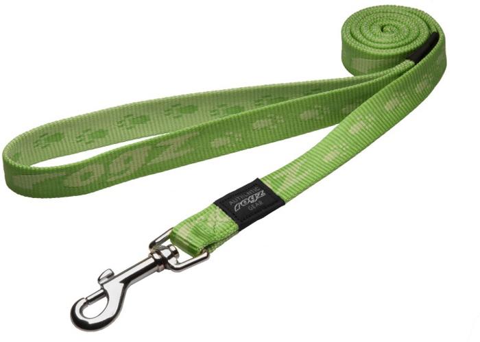 Поводок для собак Rogz Alpinist, удлиненный, цвет: зеленый, ширина 2 см. Размер LHLL25GОсобо мягкая, но очень прочная лента обеспечит безопасность на прогулке даже самым активным собакам.Все соединения деталей имеют специальную дополнительную строчку для большей прочности.Выполненные специально по заказу ROGZ литые кольца гальванически хромированы, что позволяет избежать коррозии и потускнения изделия.