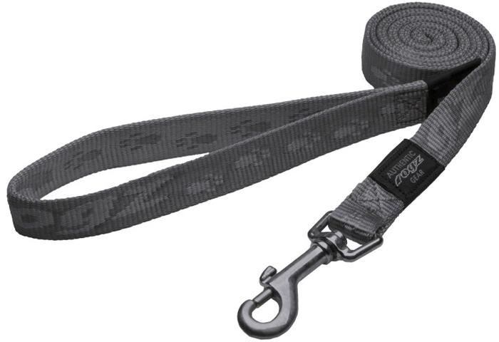 Поводок для собак Rogz Alpinist, удлиненный, цвет: серый, ширина 2 см. Размер L полуудавка для собак rogz alpinist цвет золотистый ширина 6 см размер l