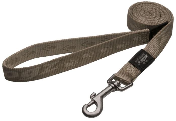 Поводок для собак Rogz Alpinist, удлиненный, цвет: коричневый, ширина 2 см. Размер L. HLL25M нaконечники литые нa свaи