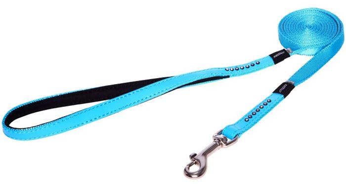 Поводок для собак Rogz Luna , удлиненный, цвет: голубой, ширина 1,3 см. Размер SHLL501BПрочность и гибкость.Авторский дизайн, яркие цвета, изысканные декоративные элементы.Материалы: 100% полиэстер, PU кожа (на основе полиуретана),металл, пластик, стразы.