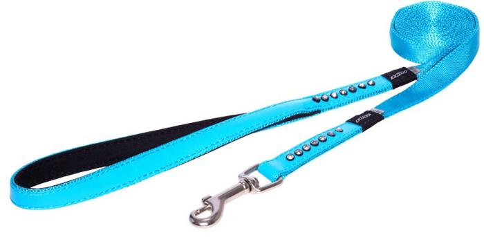 Поводок для собак Rogz Luna , удлиненный, цвет: голубой, ширина 1,6 см. Размер MHLL503BПрочность и гибкость.Авторский дизайн, яркие цвета, изысканные декоративные элементы.Материалы: 100% полиэстер, PU кожа (на основе полиуретана),металл, пластик, стразы.