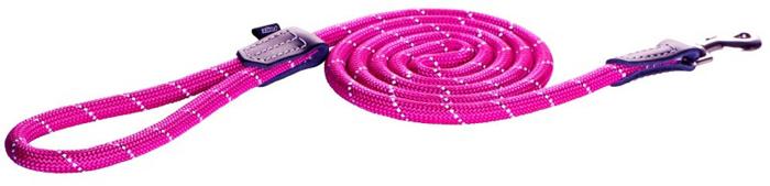 Поводок для собак Rogz Rope , удлиненный, цвет: розовый, ширина 9 мм. Размер MHLLR09KИзделие выполнено из очень мягкого, но прочного нейлона, который не причинит неудобства собаке. Высококачественная тесьма особого плетения, удивительно мягкая на ощупь, не стирает и не путает шерсть даже длинношерстным собакам. Особо прочный закругленный нейлон препятствует разгрызанию и деформации изделий. Выполненные по заказу литые кольца выдерживают значительные физические нагрузки и имеют хромирование, нанесенное гальваническим способом, что позволяет избежать коррозии и потускнения изделия.Светоотражающая нить, вплетенная в нейлоновую ленту, обеспечивает видимость животного в темное время суток.Элементы изделия выполнены из 100% кожи.
