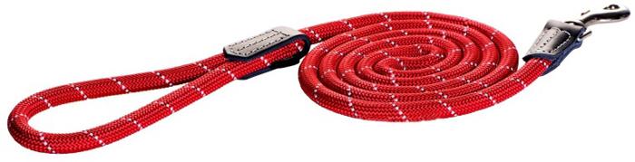 Поводок для собак Rogz  Rope  , удлиненный, цвет: красный, ширина 1,2 см. Размер L - Товары для прогулки и дрессировки (амуниция)