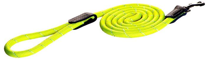 Поводок для собак Rogz  Rope  , удлиненный, цвет: желтый, ширина 1,2 см. Размер L - Товары для прогулки и дрессировки (амуниция)
