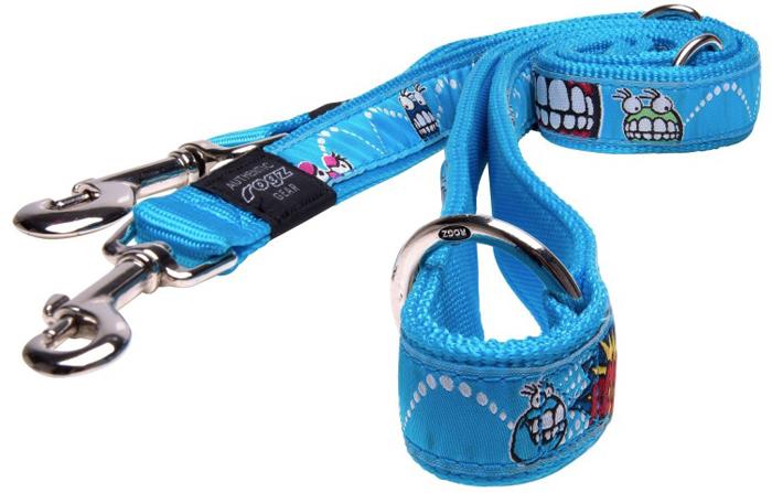 Поводок-перестежка для собак Rogz Fancy Dress, цвет: голубой, ширина 2,5 см. Размер XL поводок безопасности для ребенка