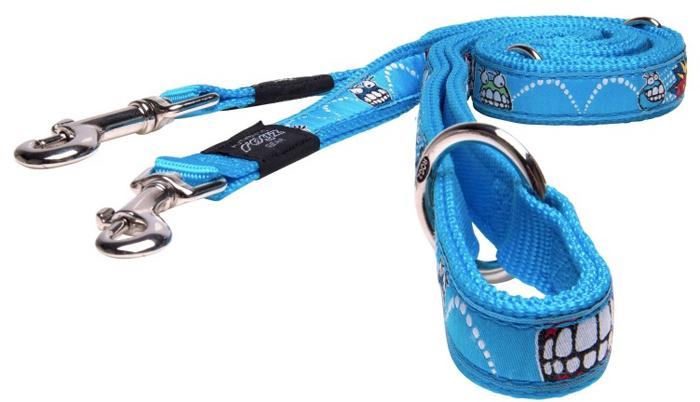 Поводок-перестежка для собак Rogz Fancy Dress, цвет: голубой, ширина 2 см. Размер L поводок безопасности для ребенка