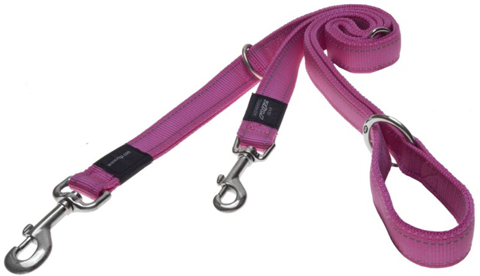 Поводок-перестежка для собак Rogz  Utility , цвет: розовый, ширина 2,5 см. Размер XL - Товары для прогулки и дрессировки (амуниция)