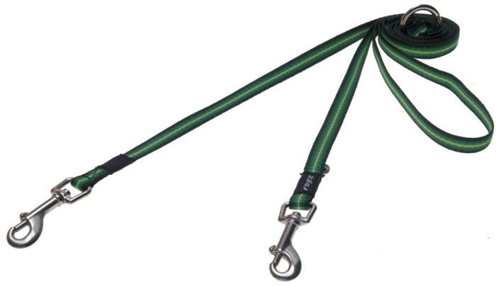 Поводок-перестежка для собак Rogz Pavement Special, цвет: зеленый, ширина 1,1 см. Размер S. HLM10A поводок безопасности для ребенка