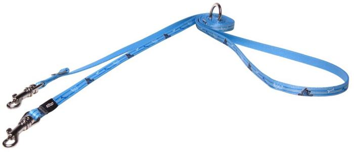 Поводок-перестежка для собак Rogz Yo Yo, ширина 8 мм. Размер XSHLM200YПоводок-перестежка изготовлен из очень мягкого, но прочного нейлона, который не причинит неудобства собаке. Высококачественная тесьма особого плетения, удивительно мягкая на ощупь.Все соединения деталей имеют специальную дополнительную строчку для большей прочности.Выполненные по заказу литые кольца выдерживают значительные физические нагрузки и имеют хромирование, нанесенное гальваническим способом, что позволяет избежать коррозии и потускнения изделия.Многофункциональный поводок-перестежку можно использовать как: поводок для двух собак; короткий, средний или удлиненный поводок (1м, 1.3м, 1.6м); поводок через плечо; временную привязь.