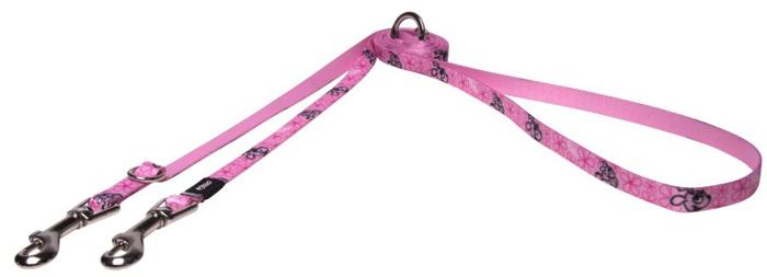 Поводок-перестежка для собак Rogz Yo Yo, цвет: розовый, ширина 1,2 см. Размер S поводок для собак rogz utility цвет желтый ширина 1 1 см размер s