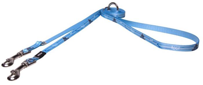 Поводок-перестежка для собак Rogz Yo Yo, цвет: голубой, ширина 1,2 см. Размер S поводок перестежка для собак rogz yo yo цвет розовый ширина 1 6 см размер m