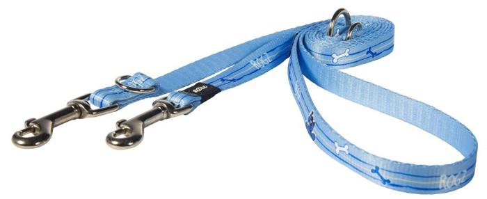Поводок-перестежка для собак Rogz  Yo Yo , цвет: голубой, ширина 1,6 см. Размер M - Товары для прогулки и дрессировки (амуниция)