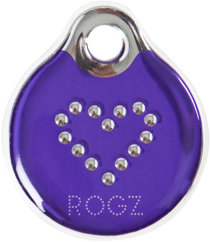 Адресник на ошейник Rogz Fancy Dress, цвет: фиолетовый, ширина 2,7 см. Размер SIDR27BJАдресник на ошейник Rogz Fancy Dress мгновенно готов к использованию.Не требует специальной гравировки. Вся информация может быть записана хозяином сразу после покупки.Защита от коррозии.Дизайн адресника создан таким образом, чтобы дополнить рисунок и расцветку аксессуаров коллекции Fancy Dress.Не гремит при движении собаки.