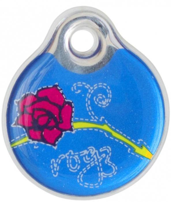 Адресник на ошейник Rogz Fancy Dress, цвет: синий, ширина 3,4 см. Размер L. IDR34BRIDR34BRАдресник на ошейник Rogz Fancy Dress мгновенно готов к использованию.Не требует специальной гравировки. Вся информация может быть записана хозяином сразу после покупки.Защита от коррозии.Дизайн адресника создан таким образом, чтобы дополнить рисунок и расцветку аксессуаров коллекции Fancy Dress.Не гремит при движении собаки.