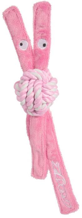 Игрушка для собак Rogz CowBoyz, цвет: розовый, длина 31 смKN203XК пищалке, находящейся внутри игрушки, не останется равнодушной ни одна собака, а прочные и крепкие канаты обеспечат достойную тренировку жевательных мышц!Игрушка типа принеси и А ну-ка отними.Игрушка чистит зубы.