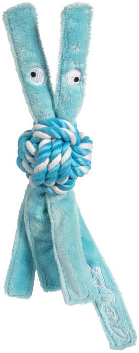 Игрушка для собак Rogz  CowBoyz , цвет: голубой, длина 31 см - Игрушки