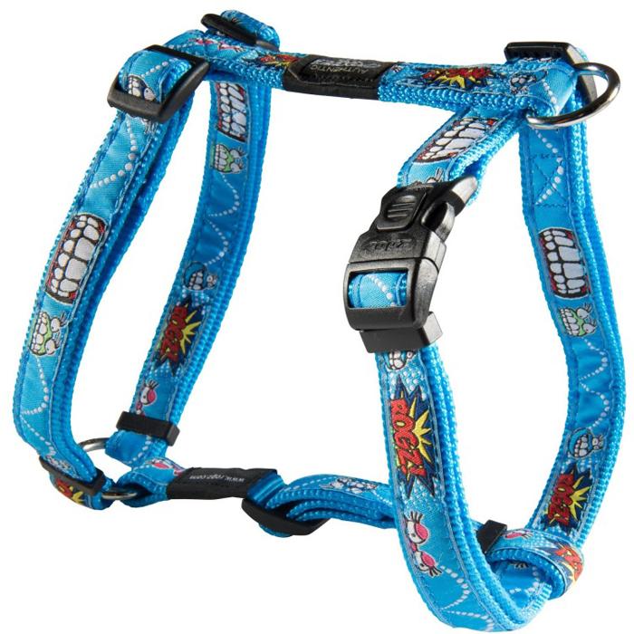 "Шлейка для собак Rogz ""Fancy Dress"", цвет: голубой, ширина 2,5 см, обхват шеи 43-70 см, обхват груди 60-100 см. Размер XL. SJ02BX"