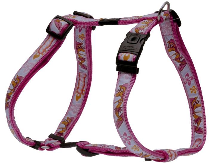 Шлейка для собак Rogz  Fancy Dress , цвет: розовый, ширина 2,5 см, обхват шеи 43-70 см, обхват груди 60-100 см. Размер XL. SJ02K - Товары для прогулки и дрессировки (амуниция)