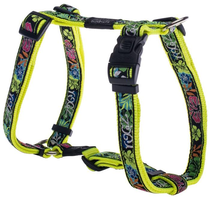 Шлейка для собак Rogz  Fancy Dress , цвет: черный, ширина 2 см, обхват шеи 34-56 см, обхват груди 45-75 см. Размер L - Товары для прогулки и дрессировки (амуниция)