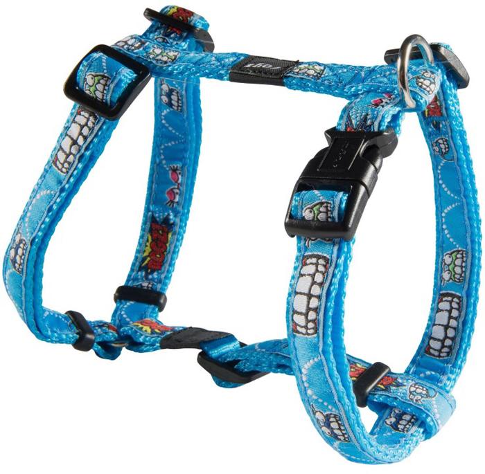 Шлейка для собак Rogz  Fancy Dress , цвет: голубой, ширина 1,6 см, обхват шеи 26-40 см, обхват груди 32-52 см. Размер L - Товары для прогулки и дрессировки (амуниция)