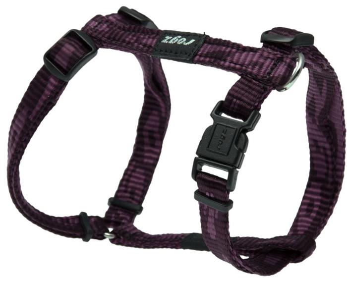 Шлейка для собак Rogz  Alpinist , цвет: фиолетовый, ширина 1,1 см, обхват шеи 23-31 см, обхват груди 23-37 см. Размер S - Товары для прогулки и дрессировки (амуниция)
