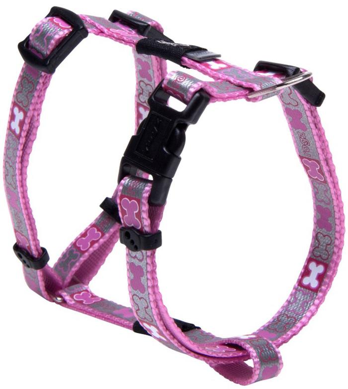 Шлейка для собак Rogz Reflecto, цвет: розовый, ширина 8 мм, обхват шеи 14-21 см, обхват груди 22-34 см. Размер XS zipit рюкзак reflecto со светоотражающим отделением