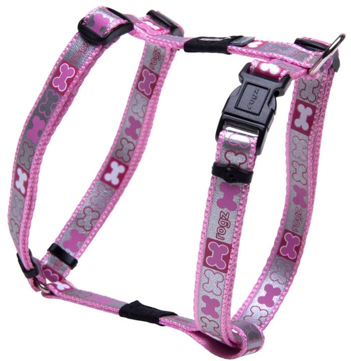 Шлейка для собак Rogz Reflecto, цвет: розовый, ширина 1,2 см, обхват шеи 19-30 см, обхват груди 28-47 см. Размер XS zipit рюкзак reflecto со светоотражающим отделением
