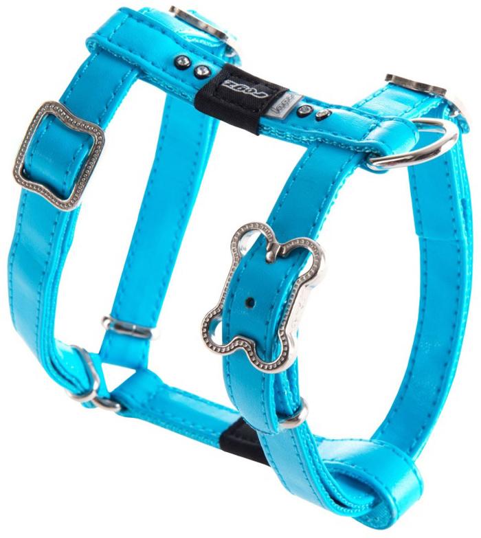 Шлейка для собак Rogz Luna, цвет: голубой, ширина 1,3 см, обхват шеи 25-42 см, обхват груди 28-47 см. Размер SSJ501BНежнейшая мягкость и гибкость.Авторский дизайн, яркие цвета, изысканные декоративные элементы.Шлейка подчеркнет индивидуальность вашей собаки.Материалы: 100% полиэстер, PU кожа (на основе полиуретана), металл, пластик, стразы.