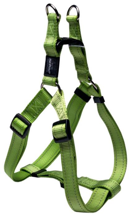 Шлейка для собак Rogz Utility, цвет: зеленый, ширина 2,5 см, обхват шеи 43-70 см, обхват груди 60-100 см. Размер XLSSJ05LВидимость ночью. Светоотражающая нить, вплетенная в нейлоновую ленту для обеспечения лучшей видимости собаки в темное время суток. Специальная конструкция пряжки Rog Loc - очень крепкая (система Fort Knox). Замок может быть расстегнут только рукой человека. Технология распределения нагрузки позволяет снизить нагрузку на пряжки, изготовленные из титанового пластика, с помощью правильного и разумного расположения грузовых колец, благодаря чему, даже при самых сильных рывках, изделие не рвется и не деформируется.Особые контурные пластиковые компоненты.Выполненные специально по заказу ROGZ литые кольца гальванически хромированы, что позволяет избежать коррозии и потускнения изделия.