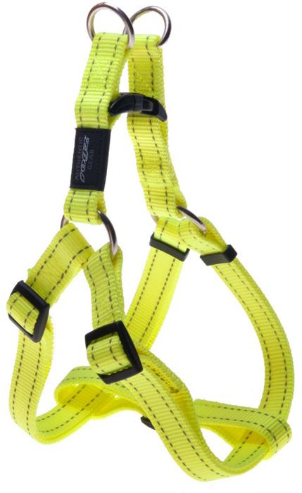 "Шлейка для собак Rogz ""Utility"", цвет: желтый, ширина 2 см, обхват шеи 34-56 см, обхват груди 45-75 см. Размер L"