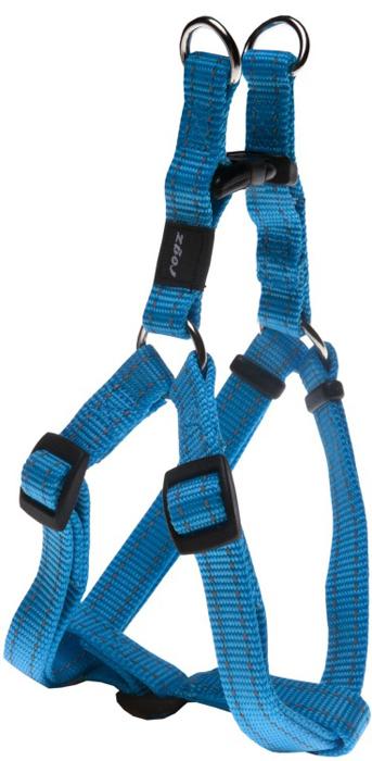 Шлейка для собак Rogz  Utility , разъемная, цвет: голубой, ширина 1,6 см, обхват шеи 26-40 см, обхват груди 32-52 см. Размер M - Товары для прогулки и дрессировки (амуниция)