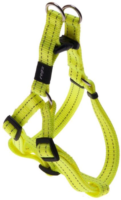 Шлейка для собак Rogz  Utility , разъемная, цвет: желтый, ширина 1,6 см, обхват шеи 26-40 см, обхват груди 32-52 см. Размер M - Товары для прогулки и дрессировки (амуниция)