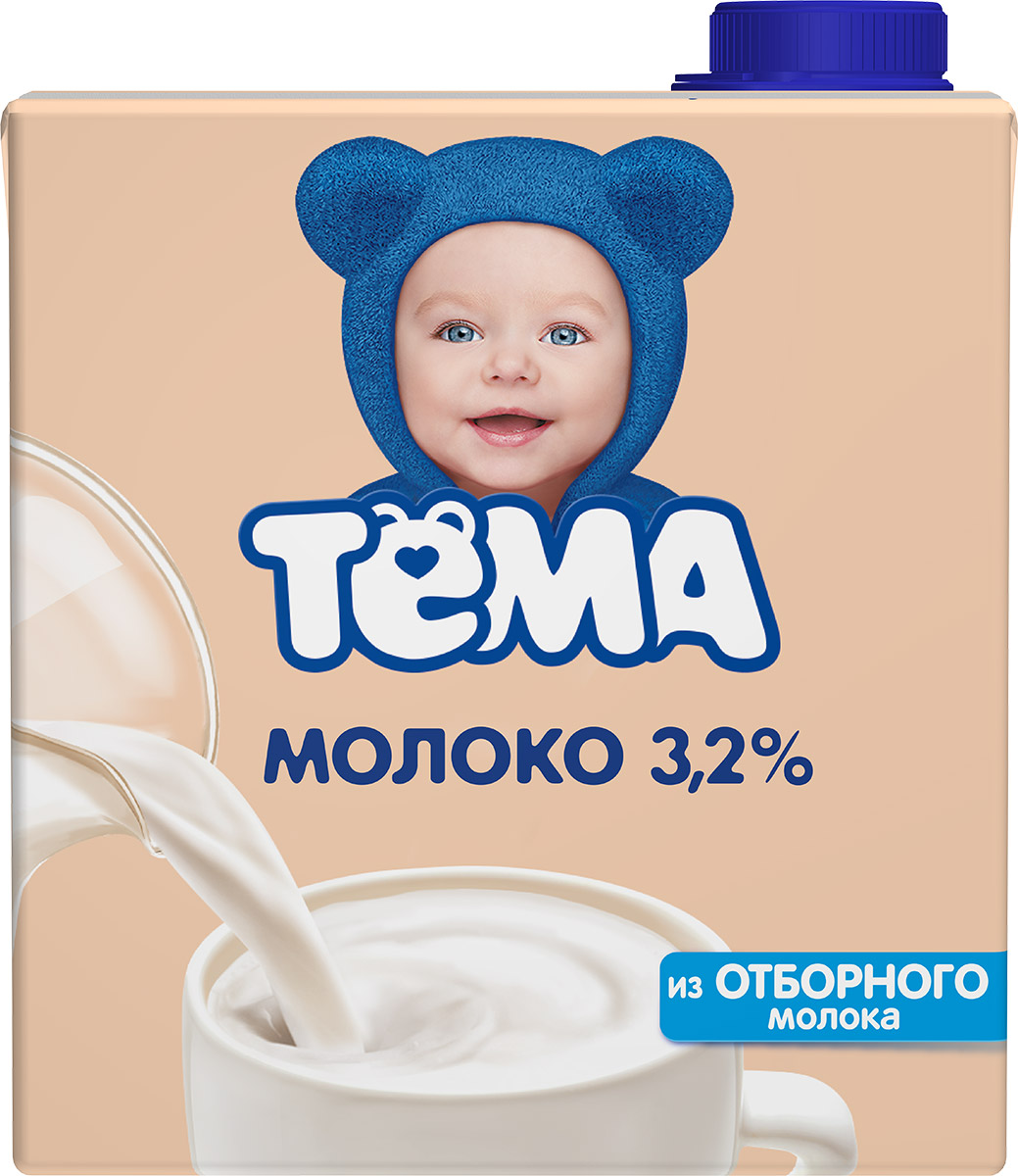 Тема Молоко 3,2%, 500 мл вкуснотеево молоко ультрапастеризованное 3 2% 950 г