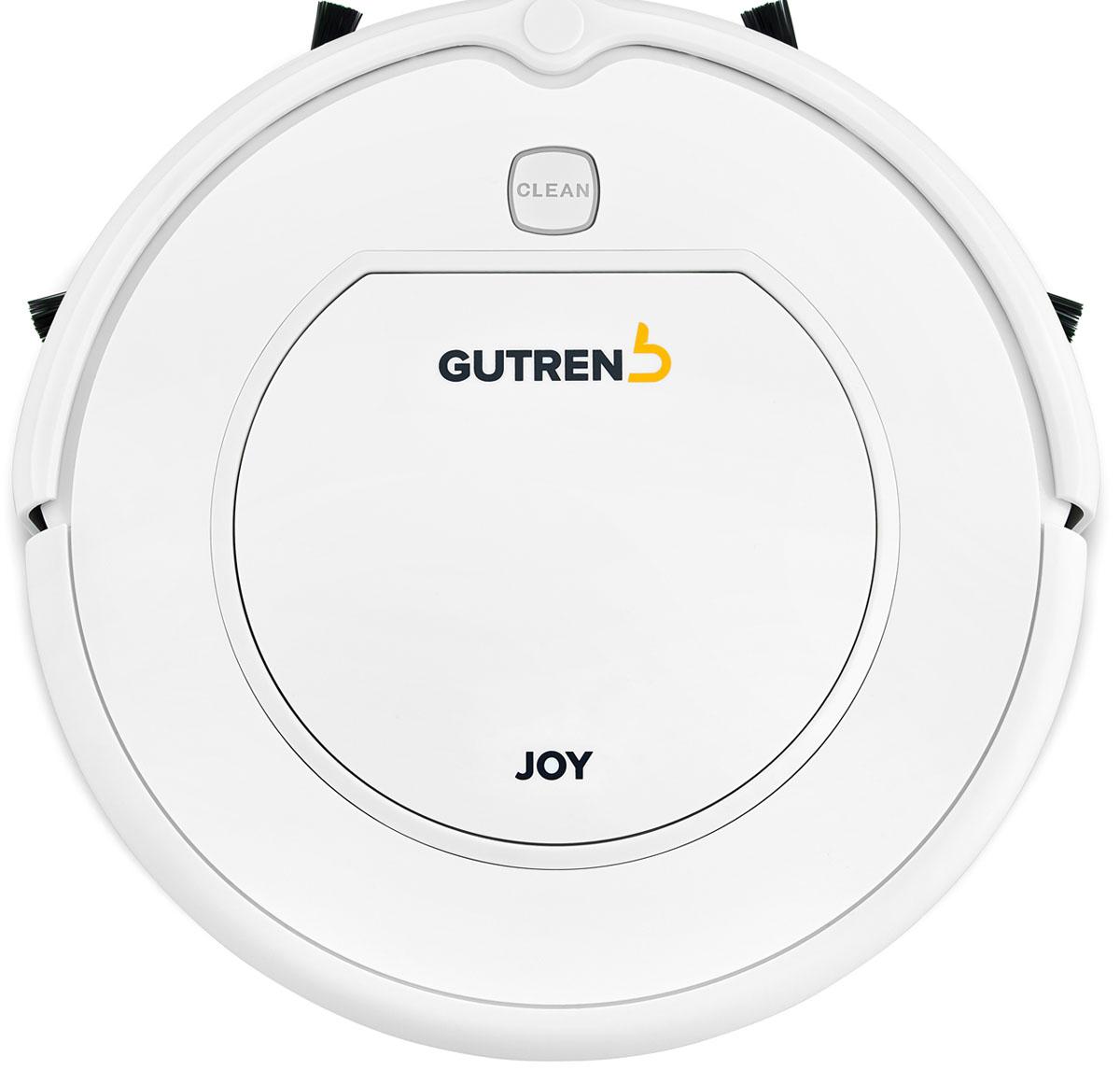 Gutrend Joy G95W, White робот-пылесосG95WРобот-пылесос Gutrend Joy 95 это обновление давно знакомой, ставшей бестселлером модели Joy 90 от Gutrend. Сохранив все лучшее от предыдущей модели, производитель усилил новинку более мощным аккумулятором и обновил ПО до последней версии. Теперь Ваш робот будет еще более производительным. Одна из ключевых особенностей данной модели – это максимальная простота в использовании. Вам не придется подолгу разбираться в настройках – все управление сводится к нажатию одной кнопки. Остальное робот сделает сам и вернется на базу для подзарядки.JOY 95 очень компактен (30 см в диаметре и 7,5 см в высоту) имеет небольшой вес (1,8 кг), что обеспечивает отличную проходимость и маневренность.Литий-ионный аккумулятор повышенной емкости (2600 mAh) позволяет роботу Gutrend Joy 95 убирать помещения общей площадью 120 кв.м непрерывно в течение 110 мин.Данная модель имеет вместительный пылесборник (0.6 л), что позволяет намного реже обслуживать робота. Пылесборник предусматривает две ступени фильтрации: сетчатый фильтр для крупного мусора и HEPA-фильтр для удержания мельчайших частиц пыли. Воздух в квартире останется чистым!Робот-пылесос отличается низким уровнем шума, который не превышает 50 Дб. Важным преимуществом семейства JOY 95 является принцип открытой архитектуры. Такой подход позволит Вам улучшить возможности робота-пылесоса необходимыми именно Вам функциями, не переплачивая за избыточные потребительские свойства. Заказав дополнительные аксессуары, Вы сможете легко дооснастить Вашего помощника. К примеру, модуль влажной уборки позволит производить не только сухую, но и влажную уборку помещений, а виртуальная стена ограничит пространство для уборки.Выбирая GUTREND JOY 95, Вы проявляете заботу об окружающей среде!