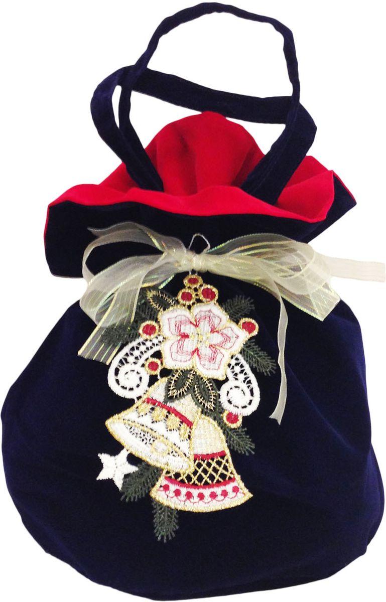 Мешочек подарочный Правила Успеха Колокольчик с ручками4610009215884Бархатный мешок с ручками-завязками. Легко превращается в кружевное украшение для новогодней елки и интерьера.