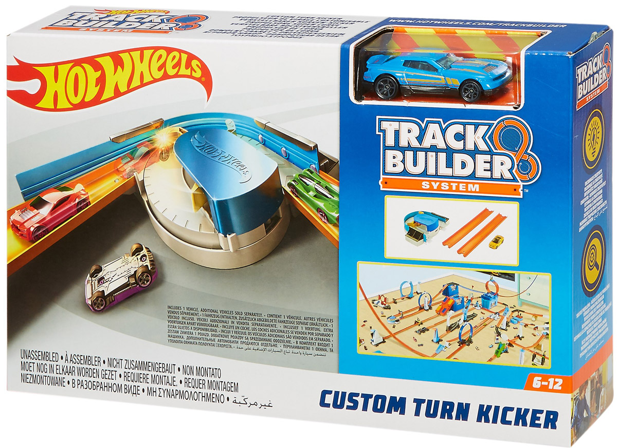 Hot Wheels Track Builder Игрушечный трек Custom Turn Kicker - Транспорт, машинки