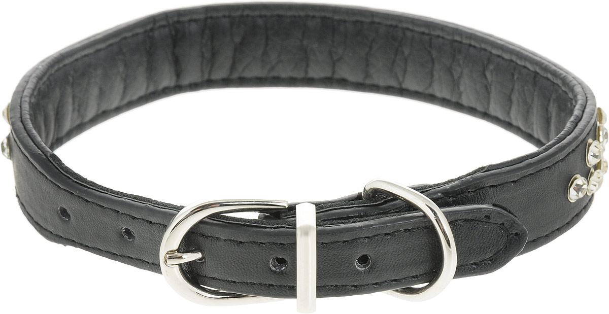 """Ошейник для собак """"GLG"""", цвет: черный, 2 х 40 см. Размер L"""